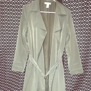 Olive Green Trenchcoat Duster, H&M